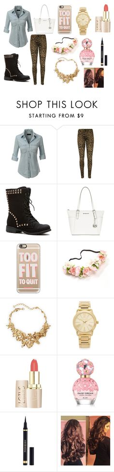 """""""Too Fit To Quit"""" by emojiqveen on Polyvore featuring LE3NO, WearAll, MICHAEL Michael Kors, Casetify, Oscar de la Renta, Michael Kors and Marc Jacobs"""