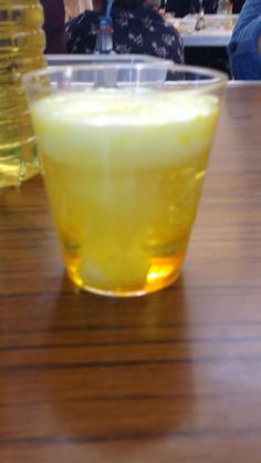 Volcano in a cup! Oil, lemonade, food colouring and salt