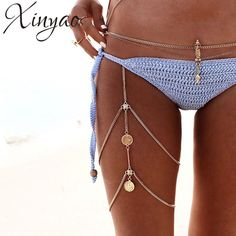 Boho Coin Silver Gold Thigh Leg Chain Waist Thigh Sexy Body Chains Belly Necklace Bracelet on the Leg Accessories Women Jewelry Beach Jewelry, Boho Jewelry, Fashion Jewelry, Summer Jewelry, Bikini Jewelry, Summer Accessories, Handmade Jewelry, Coachella Accessories, Waist Jewelry