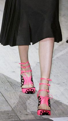 Candy-colored heels at Miu Miu.