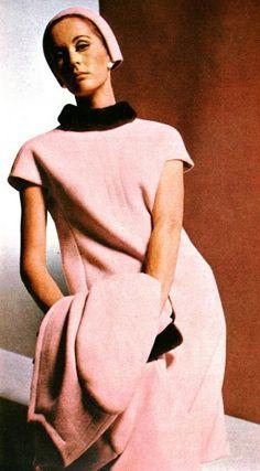 Coat and dress by Nina Ricci, Elegance (Dutch) October 1966