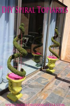 DIY Home Decor : DIY: Spiral Topiaries