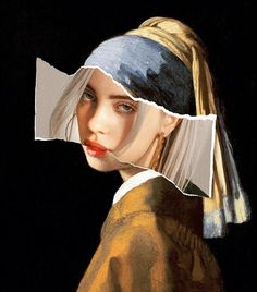 Girl with a Pearl Earring Collage Billie Eilish (Fail .- Mädchen mit einer Perlen-Earring-Collage Billie Eilish (FailunFailunMefailun) Girl with a Pearl Earring Collage Billie Eilish Billie Eilish, Photomontage, Pablo Escobar, Grafik Design, Surreal Art, Aesthetic Art, Aesthetic Painting, Cute Wallpapers, Wallpaper Wallpapers