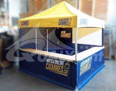 Carpa personalizada para els Catarres. Carpa plegable con mostrador para merchandising Tools, Carp, Counter, Instruments