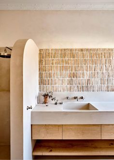A Stylist And Designer's Mediterranean-Inspired Caulfield Home - Style Architectural Bad Inspiration, Bathroom Inspiration, Bathroom Ideas, Bathroom Designs, Bathroom Organization, Bathroom Trends, Shower Ideas, Mission Style Homes, Glamorous Bathroom