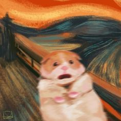 This sub is dedicated to hamsters and their humans. Animal Memes, Funny Animals, Cute Animals, Regard Animal, Arte Van Gogh, Van Gogh Art, Reaction Pictures, Aesthetic Art, Cute Drawings