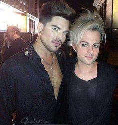 Adam Lambert and Tommy Jo Ratliff at iHEART Radio Music Festival in Las Vegas 9/20/13
