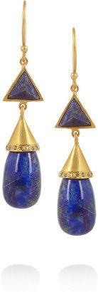 Lapis Kevia Gold-plated lazuli earrings #1010ParkPlace Designer Clothes Sale, Discount Designer Clothes, Affordable Jewelry, Unique Jewelry, Lapis Lazuli Earrings, Discount Jewelry, Plating, Drop Earrings, Jewels