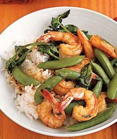 Lemon-Herb Seafood recipe from realsimple.com #myplate #protein #vegetables #grain