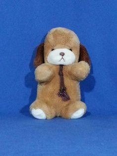 """RARE VINTAGE 1982 GUND BUTTERSCOTCH SMOOCH-PUPPY DOG-11"""" W/RATTLE IN TAIL  #GUND"""