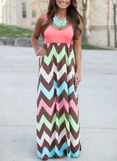 Just My Style Chevron Maxi - http://TheChicFind.com