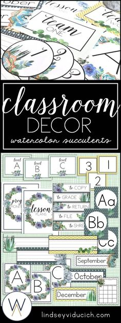 Have you considered doing a succulent theme for your classroom? This decor set is a growing resource, and is full of beautiful and easy classroom decor materials. Simply print, laminate, and go to create a lovely and serene classroom! The packet has a suc