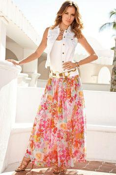Hazy floral maxi skirt from Boston Proper on Catalog Spree, my personal digital mall.