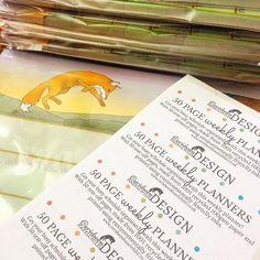#Packaging up #fox weekly #planners in preparation for this weekend's #Craft #Market. Ceridwen Hazelchild Design