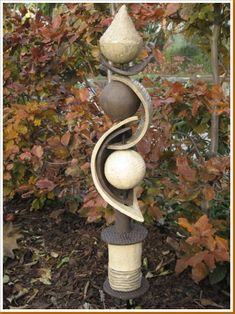 bedpost garden art - Google Search
