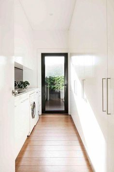 Home Renovation, creative yet captivating post number 7462771540 - Basic yet riveting home design tactic. Home Design, Home Interior Design, Interior Livingroom, Modern Laundry Rooms, Laundry In Bathroom, Laundry Doors, Laundry Cupboard, Linen Cupboard, Small Laundry