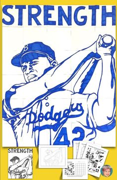 A unique and fun Jackie Robinson art project for classroom teachers and art teachers alike. There are two posters in this resource. 1 poster has children color the pieces of a Jackie Robinson art poster. The 2nd poster has students draw Jackie Robinson in a collaborative way.