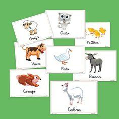Bits de imágenes de animales de granja. #educación