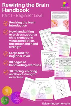 Handwriting Exercises: A little unknown secret for grounding your child's emotions #ilslearningcorner #handwritingexercises #emotionalgrounding #teachers #parentresources #childdevelopment #poorhandwriting #emotionaldevelopment #finemotor #handeyecoordination #tracing #handstrengthkids #learningdelays  #attentionkids #impulsecontrol Handwriting Exercises, Auditory Processing Disorder, Emotional Child, Math Facts, Strength Workout, Learning Disabilities, Dyslexia, Comprehension, Parenting Hacks