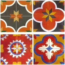 Location: Athangudi   Athangudi tiles named after the place of manufacture in Chettinad, Tamil Nadu, come in myriad colors and patterns and are made by a unique process using local soil. The designs and colors used in Athangudi Tiles are still those of a bygone era.  Athangudi tiles are completely handmade floor tiles, which   add charm to the interiors of a house.   It is unique and supreme, as it comes in a variety of colors  and patterns made by a distinctive process of making tiles.