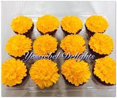 Marigold Flowers - The Book of Life Girl 2nd Birthday, 2nd Birthday Parties, Cupcake Birthday Cake, Marigold Flower, Flower Cupcakes, Halloween, Cake Ideas, First Birthdays, Sprinkles