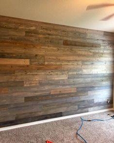 shiplap basement walls - Shiplap 'no lap' boards 50 SQFT Stained Shiplap, Pallet Walls, Pallet Tv, Pallet Beds, Wood Pallets, Plank Walls, Wood Planks For Walls, Wood Wall Paneling, Reclaimed Wood Paneling