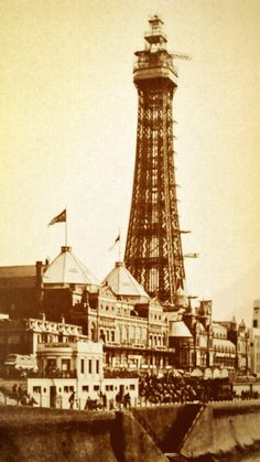 Blackpool Tower being used as radar station during WW2