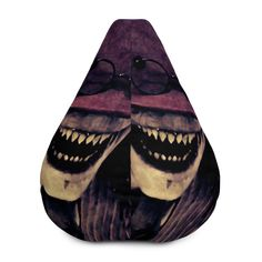 Crooked Man All-Over Print Bean Bag Chair w/ filling Crooked Man, Fabric Weights, Sliders, Bean Bag Chair, Horror, Beans, Comfy, Movie, Film Movie