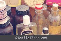 Inspiración vintage y objetos del mercado de pulgas.