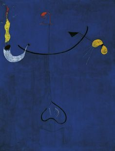 Joan Miro - Catalan Peasant with a Guitar, 1924. Oil on canvas