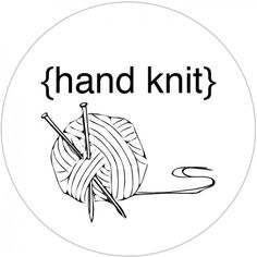 Free Printable Hand Knit with Love and Hand Crochet With