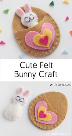 This Cute Felt Bunny Craft makes a great pocket pet felt crafts felt animals kids crafts easter crafts diy felt patterns free felt patterns felt tutorials sewing with felt felt ideas Bunny Crafts, Glue Crafts, Crafts To Make, Crafts For Kids, Diy Crafts, Crafts With Felt, Easter Crafts Kids, Easy Felt Crafts, Rabbit Crafts