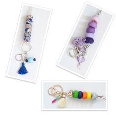 Lanyard, Handmade lanyard, Teacher lanyard, ID Holder, Beaded lanyard,Colorful beaded lanyard, Polymer Clay Accessory,ID lanyard