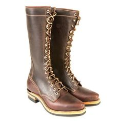 This tough ankle hugging boot with a traditional western toe boasts classic style. Sometimes referred to as the Granny Boot or the Packer Boot, you& be amazed Custom Cowboy Boots, Classic Style, My Style, Motorcycle Style, Goodyear Welt, Westerns, Combat Boots, Guys, Leather