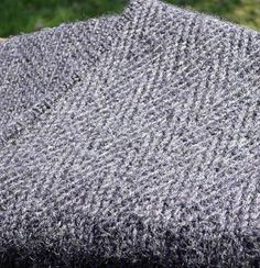 Another view of the very manly Henry scarf. I made this for Gideon in 2012.