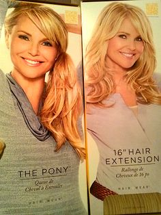 Review, Before/After Photos: Christie Brinkley Hair2Wear - Lace Front Wigs, Weaves, Ponytail Extensions, Clip-On Bangs