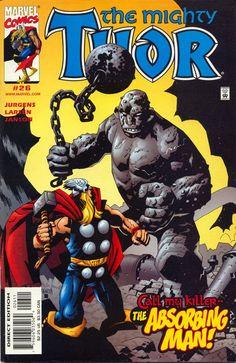 Thor vs Absorbing Man by Mike Mignola #thor #absorbingman #mikemignola