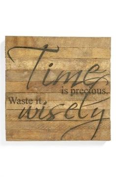 time is precious, waste it wisely! by ashleyw