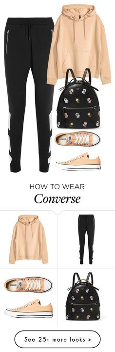 """Untitled #2028"" by rowan-asha on Polyvore featuring adidas Originals, H&M, Converse and Fendi"