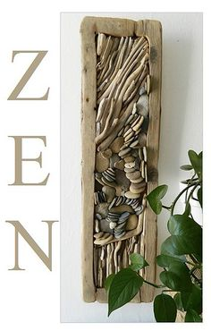 Driftwood  and pebbles WALL DECOR