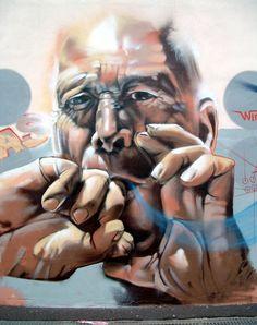 "Street art | Mural ""Silvo Gomero"" (Tenerife, Canary Islands, Spain, 2004) by Sabotaje Al Montaje"