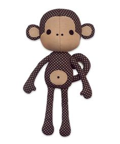 Sewing pattern Cute Monkey cloth doll plushie PDF by DIYFluffies