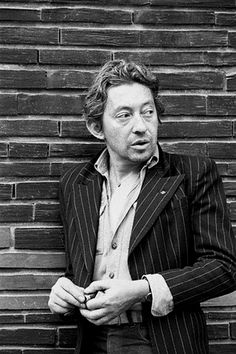 If the French song, had to be baptized ... His name would be  its greatest poet Serge Gainsbourg.