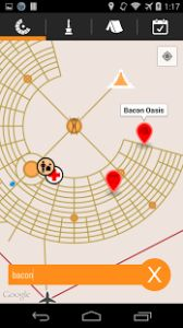 The iBurn App has a map of Black Rock City featuring listed Art projects, Themecamps and Events with a filter ability to sort on types of events. It also has a favorites functionality where you can add your friends or favorite camps and Art. Full descriptions with other data like emails. locations, Home towns, etc are also available. #BurningMan #TravelNevada