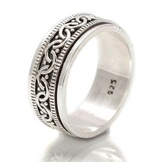 Celtic Sterling Silver Spinning Ring