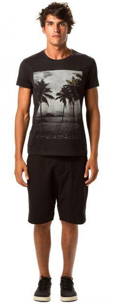 Osklen - T-SHIRT VINTAGE BLACK COQUEIROS UKI - t-shirts - men
