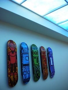 Skateboard art lines the walls in the emergency department at Dayton Children's!