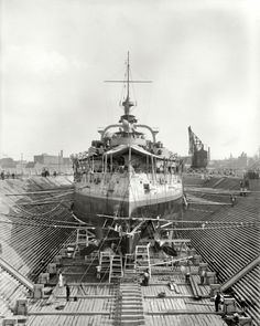19th century dry dock, Boston