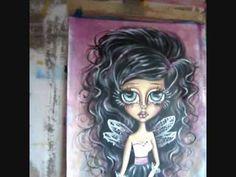 Whimsical art Magical fairy.