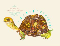 Turtle painting - we are all magnificant creatures!
